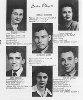 Class of 1947 - Blanche Pratt, Donald Greenway, Joan Juvenal, Marjorie Davis, Dick Shiney, Warren Irvin